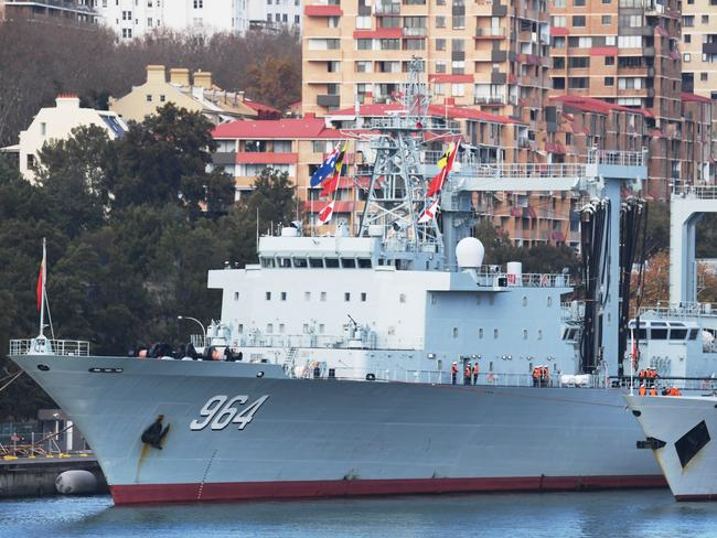 Three Chinese warships arrive in Sydney Harbour for four-day