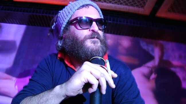 Actor Joaquin Phoenix in a scene from 2010 film I'm Still Here. Picture: Supplied.