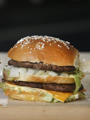 The McDonald's Big Mac in comparison. Picture: David Caird