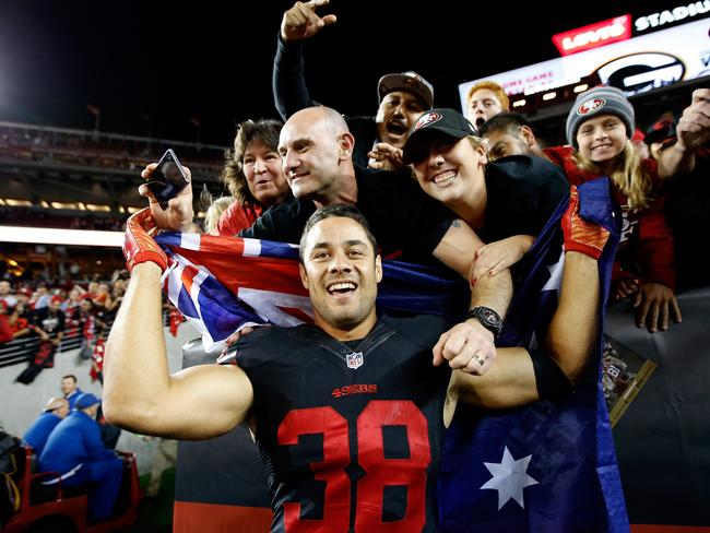 Hayne became a national hero at the 49ers. (Photo by Ezra Shaw/Getty Images)