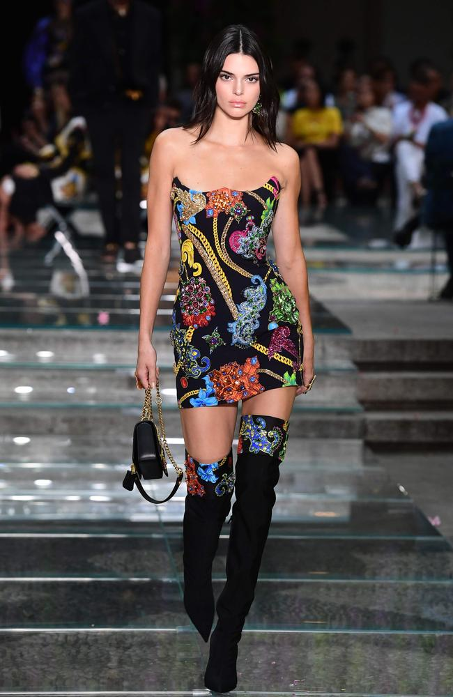 8c81ce948c1 Jenner walking the runway for Versace in Milan earlier this year. Credit   AFP