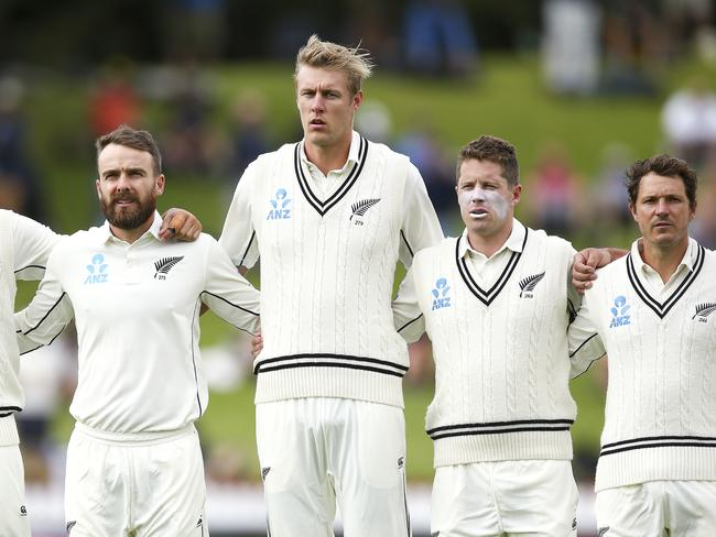 Kyle Jamieson is considerably taller than his Black Caps teammates