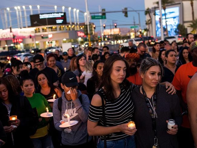 The lone gunman killed more than 50 people prompting an inevitable debate about gun control in the US. Picture: Drew Angerer/Getty Images/AFP