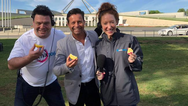 Channel 9 Today show weather reporter Steve Jacobs prepares to take the challenge. Picture: Supplied