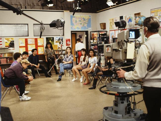 Saved By The Bell being filmed.