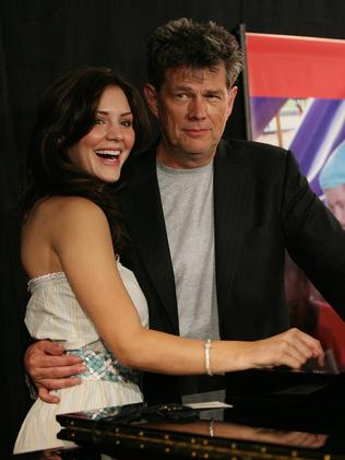 Singer Katharine McPhee and producer David Foster in 2006. Picture: Getty Images