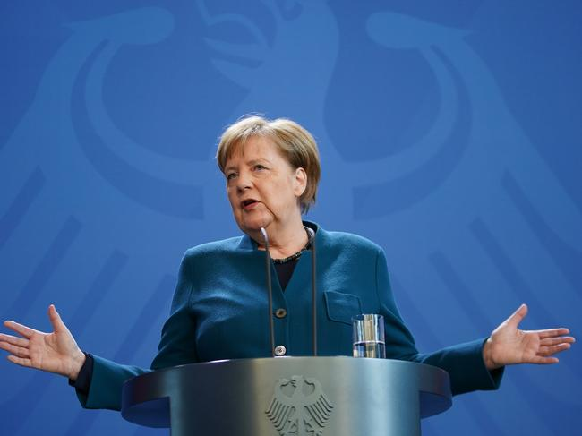 German Chancellor Angela Merkel has tested negative to COVID-19. Picture: Getty Images