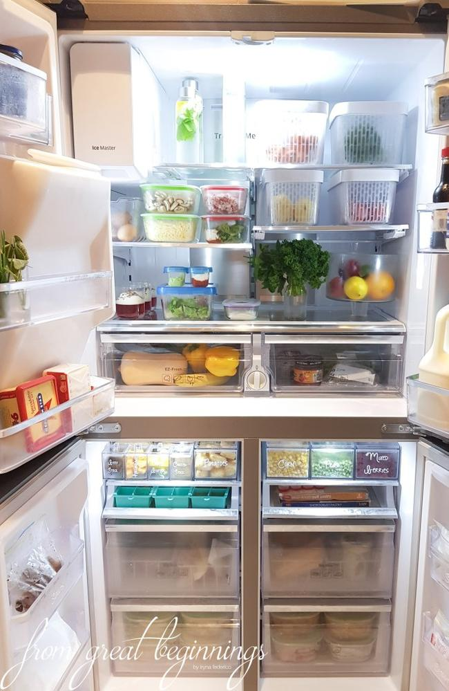 Inside Iryna's fridge. Picture: From New Beginnings