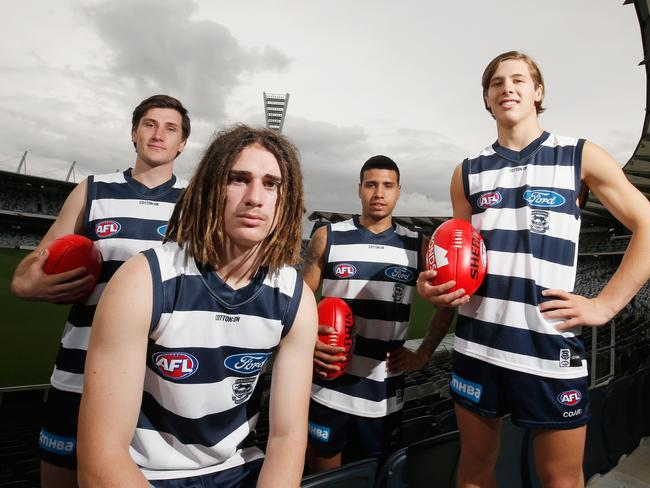 Cats quartet Charlie Constable, Gryan Miers, Tim Kelly and Lachie Fogarty.