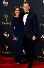 Robin Dearden and Bryan Cranston attend the 68th Annual Primetime Emmy Awards on September 18, 2016 in Los Angeles, California. Picture: AP