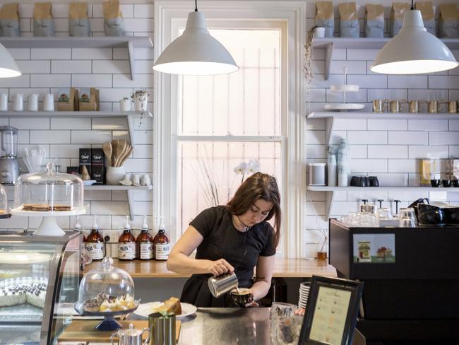 The Cunning Culinarian's co-owner Alina MacKee making coffee. Picture: #MyMaitland