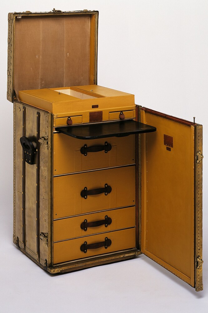 Louis Vuitton Desk Trunk in copper from 1923. Image credit: Louis Vuitton.