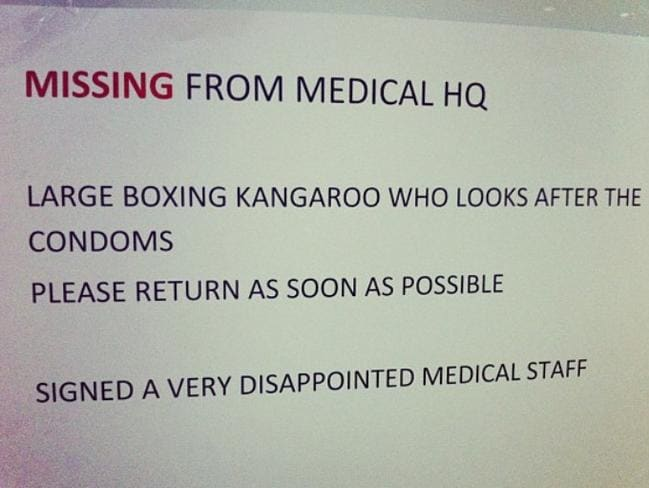 The kangaroo was missed. Picture: Melanie Wright