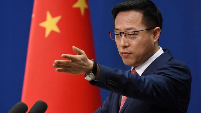 Chinese Foreign Ministry spokesman Zhao Lijian. Picture: Greg Baker/AFP