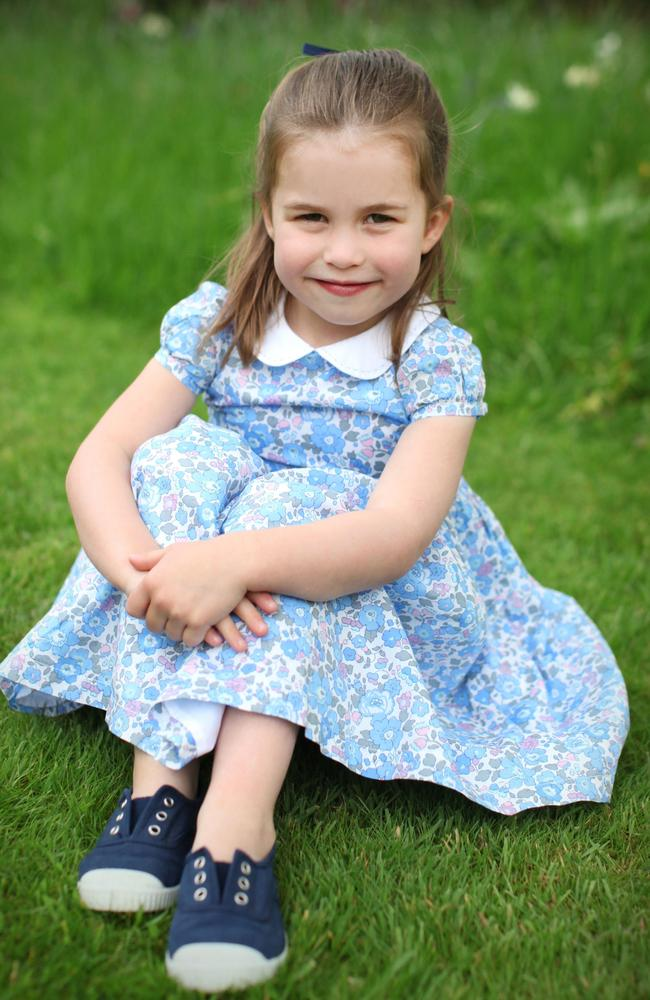 A photo of Charlotte taken by her mother earlier this year. Picture: The Duchess of Cambridge.
