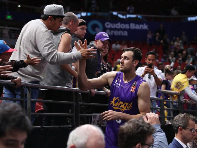 Andrew Bogut's first game for the Kings drew more than 10,000 fans to the arena.