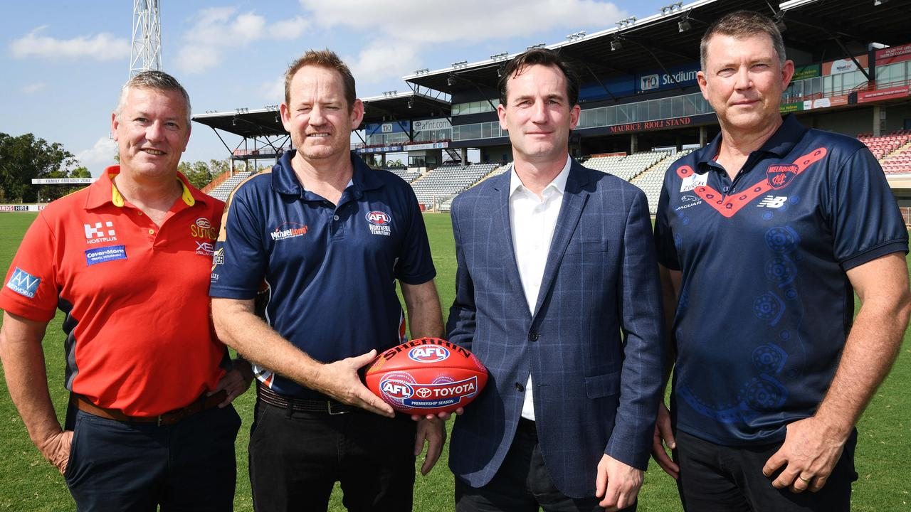 Gold Coast will play one home and away game a year in Darwin over the next four seasons, while Melbourne will host a game in Alice Springs. Photo: Katrina Bridgeford