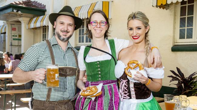 Head to Rocklea, Brisbane Night Market for some Oktoberfest fun this weekend.Picture: AAP Image/Richard Walker