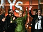 Adele, winner of Album of the Year for '25,' speaks onstage during The 59th GRAMMY Awards at STAPLES Center on February 12, 2017 in Los Angeles, California. Picture: Getty