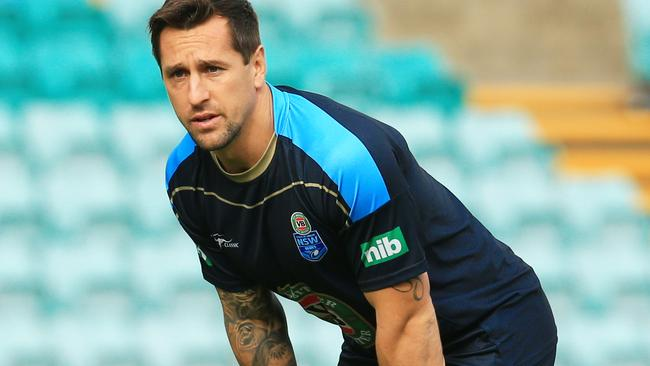 Mitchell Pearce at NSW training.