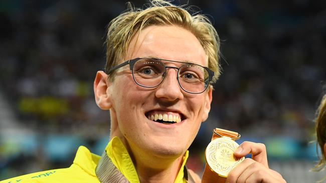 Mack Horton with his Commonwealth Games gold medal. Picture: Getty Images