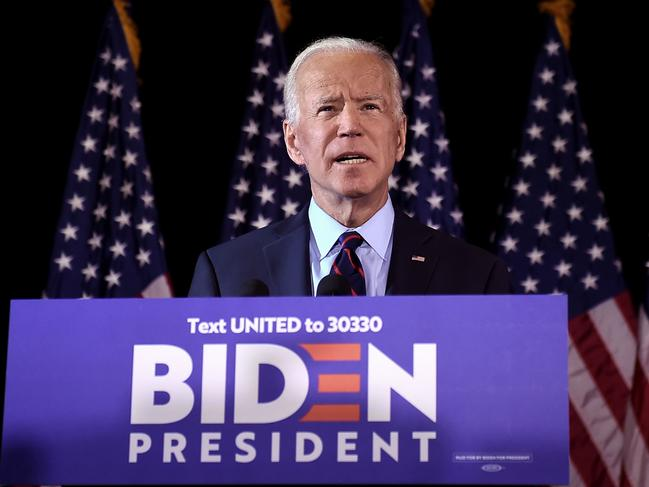 Mr Trump allegedly asked the Ukrainian President to dig up dirt on his political opponent Joe Biden. Picture: Olivier Douliery/AFP