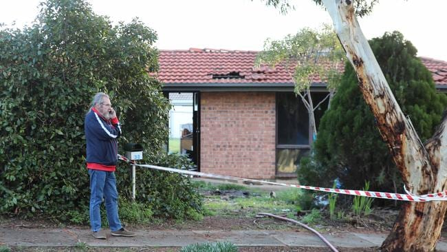 Mr Paget outside his home, which he believes was deliberately destroyed. Picture: AAP / Dean Martin