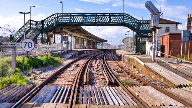 Newhaven Harbour railway station, which will remain open, is just a minute's walk from the 'ghost station' nearby.