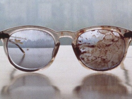 Lennon's glasses were left bloodstained after his murder. Picture: Supplied