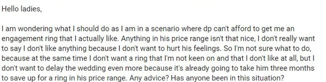 The woman posted this on Mumsnet.