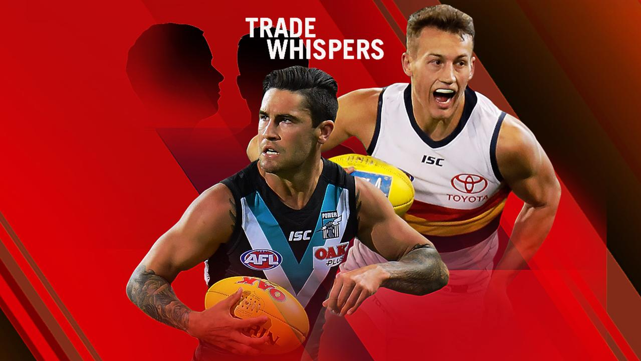 AFL trade whispers: Tom Doedee and Chad Wingard.