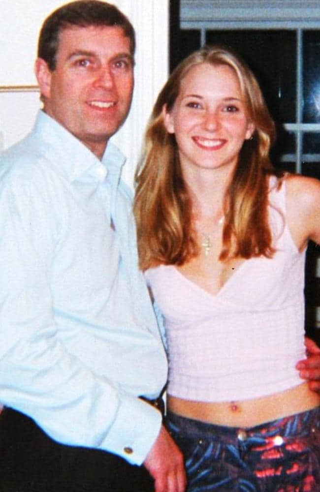 Prince Andrew and Virginia Giuffre (then Roberts) aged 17 at Ghislaine Maxwell's townhouse in London. Picture: US District Court Southern District of Florida