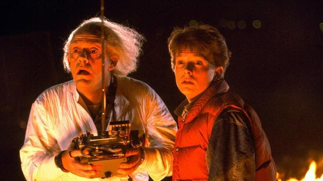 Christopher Lloyd and Michael J. Fox in the original film.