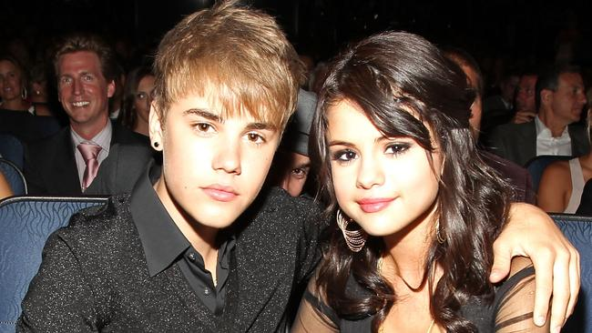 Justin Bieber and Selena Gomez at the 2011 ESPY Awards.