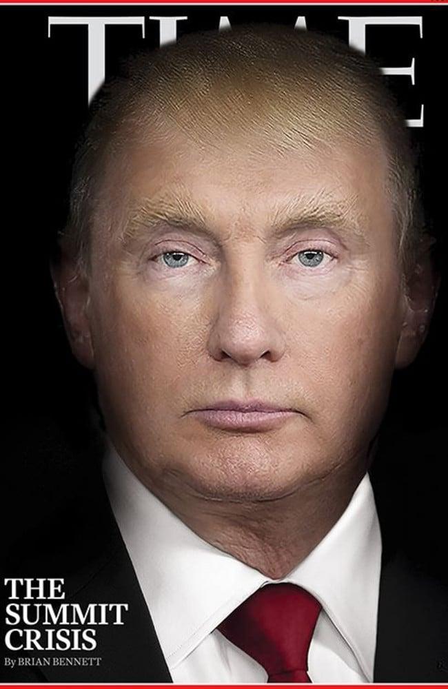 TIME magazine's provocative cover shows Donald Trump morphing into Vladimir Putin.