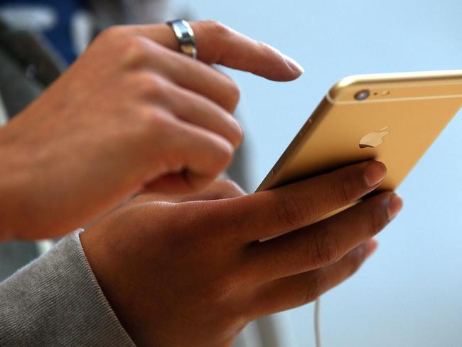 Unused ... iPhones are also not being used by government departments. Picture: Getty Images/AFP