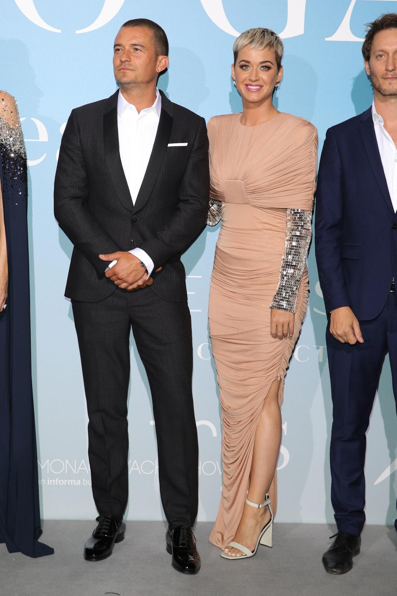 Orlando Bloom and Katy Perry in Monaco. Image credit: AFP