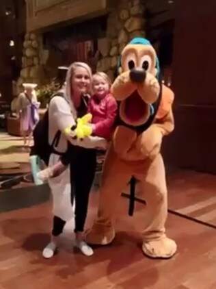 Seeing her favourite character Pluto Pup seemed to lift Lainey's spirits.