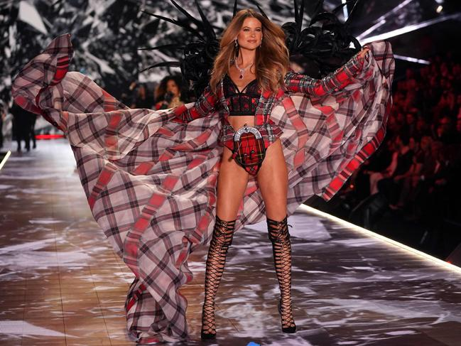 Namibian model Behati Prinsloo made a comeback to the VS runway after two years off. Picture: AFP