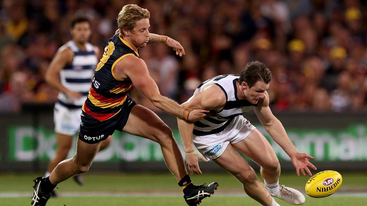 Patrick Dangerfield of the Cats was a class above the Crows on the weekend.