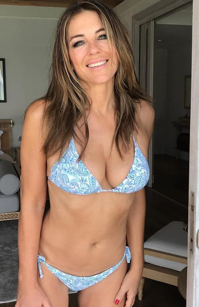 53 and still fighting fit. Picture: LizHurley/Instagram