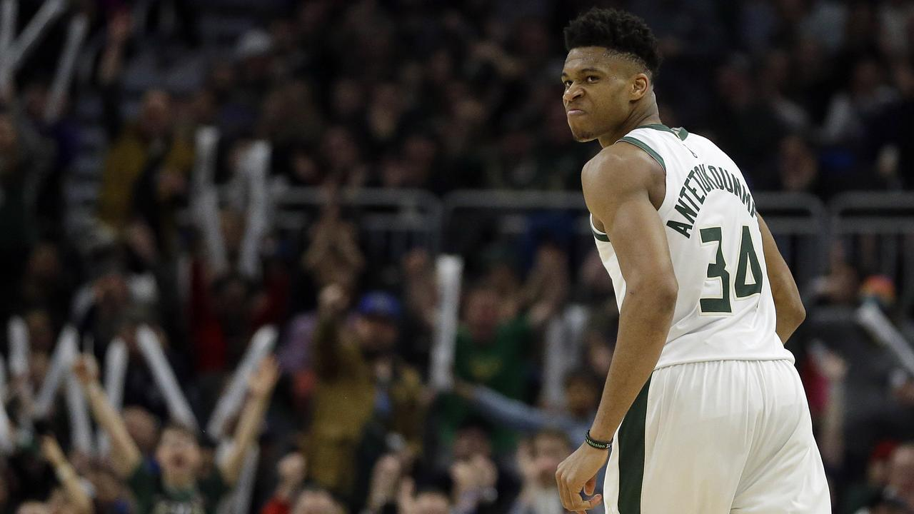 Milwaukee Bucks' Giannis Antetokounmpo had another monster outing.