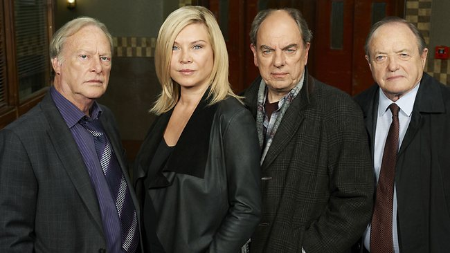 Dennis Waterman, Amanda Redman, James Bolam and Alun Armstrong star in New Tricks. Picture: ABC