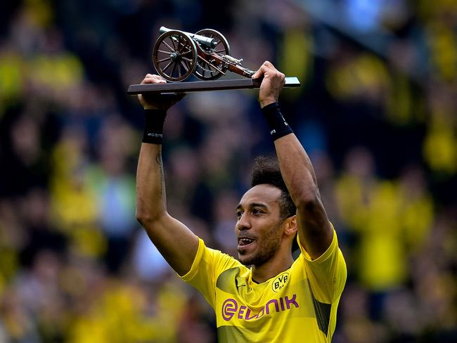 Aubameyang was the Bundesliga's top-scorer in 2016-17.