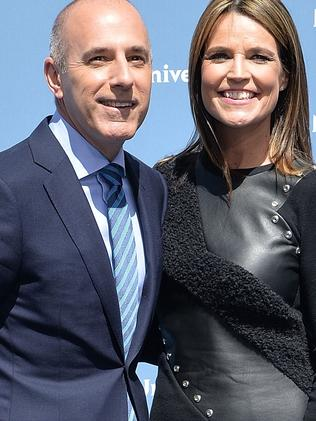 Matt Lauer and Savannah Guthrie last year before the allegations broke. Picture: Getty
