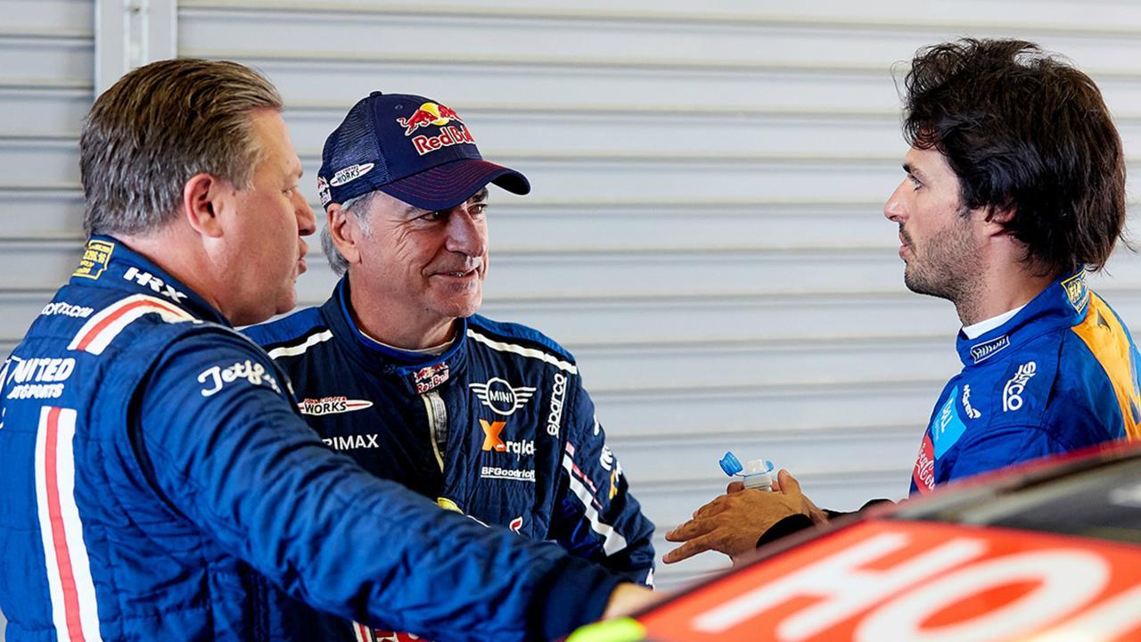 (L-R) Brown, Sainz Sr and Sainz Jr. Pic: McLaren