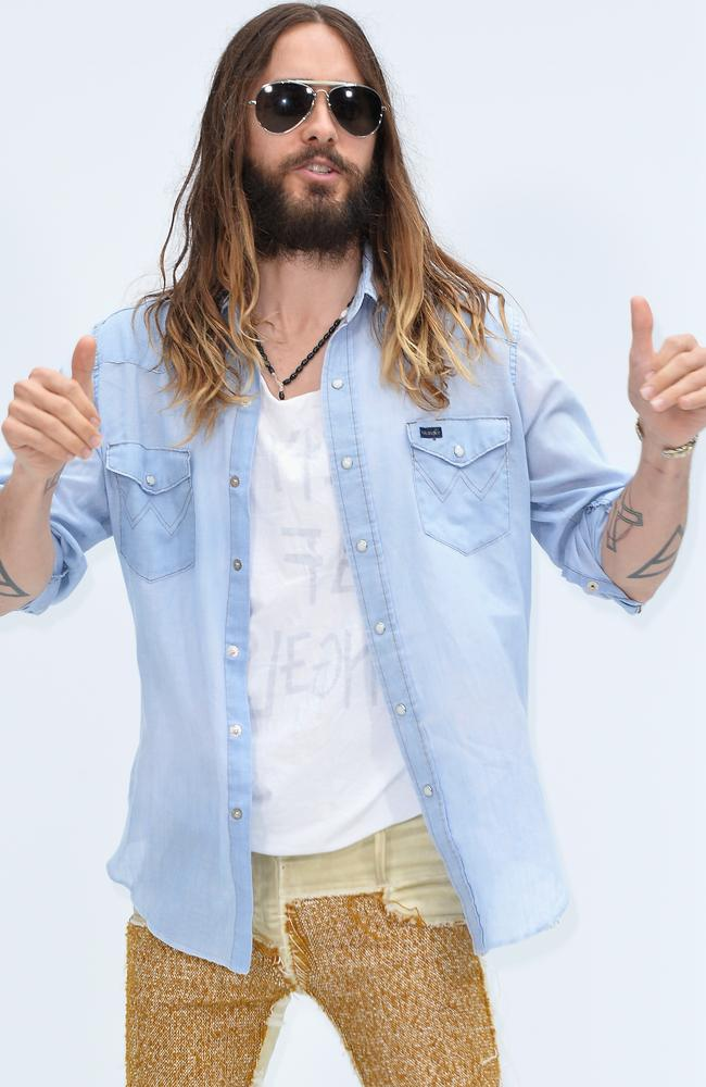 Hair envy ... Jared Leto's lush locks and facial scruff are no more. Picture: Pascal Le Segretain/Getty Images
