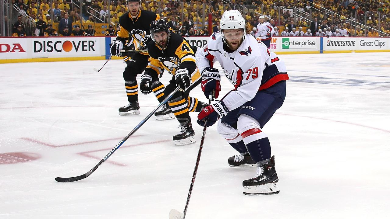 ffe4593e738 ... playoffs. Australia s Nathan Walker of the Washington Capitals takes on  the Pittsburgh Penguins at PPG Paints Arena