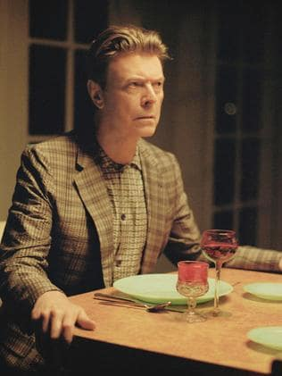 2013 ... David Bowie playing his role in a scene from the short film The Stars (Are Out Tonight) that accompanies his single. Picture: AFP