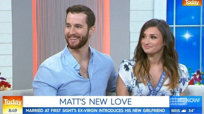 Matthew debuted his new girlfriend on Today this morning